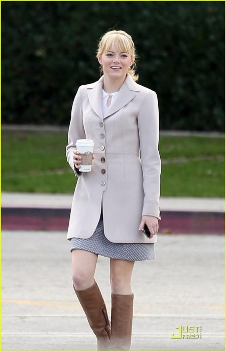 Emma Stone Spider Man Coffee Break Spiderman