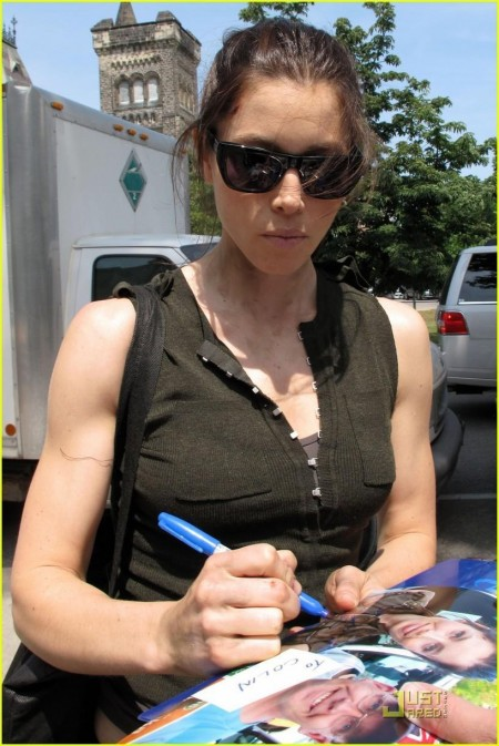 Jessica Biel On Set Hair