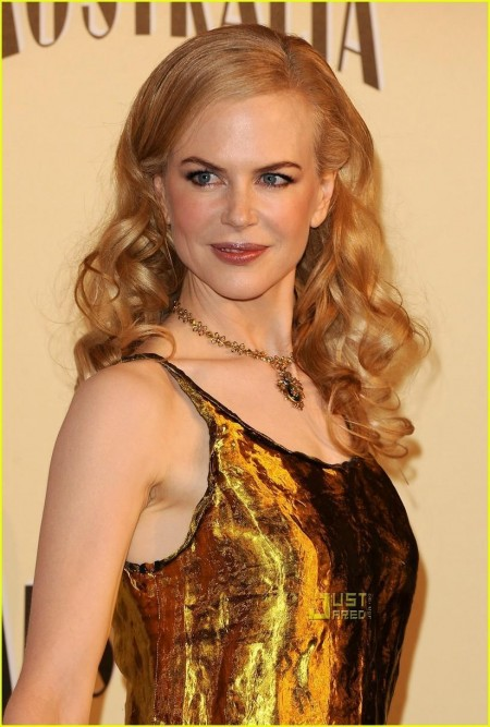 Nicole Kidman Gold Dress Dresses