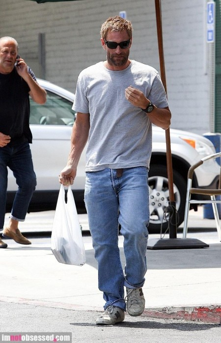 Aaron Eckhart Out And About