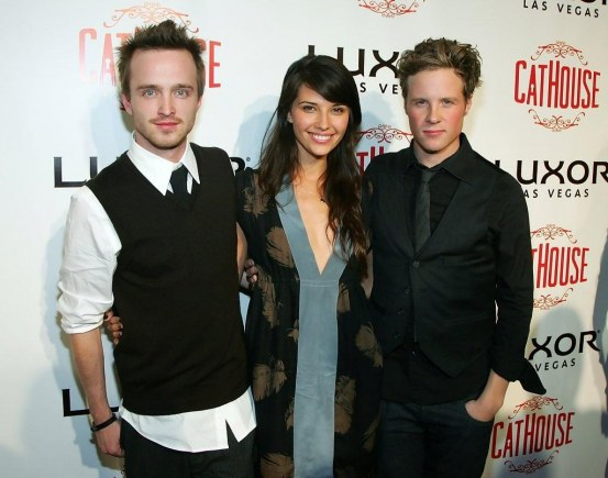 Aaron Paul Grand Opening Cathouse Pjh Kf Gqx And Jessica Lowndes