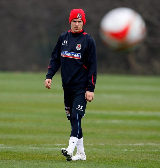 Aaron Ramsey Wales Training Session Lnwh Hw Qnx Wales