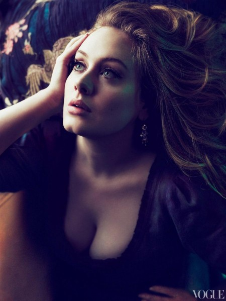 Adele By Mert Marcus For Vogue Us March Photo