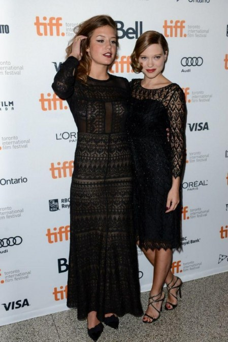 Lea Seydoux And Adele Exarchopoulos At Blue Is The Warmest Color Premiere At Tiff Exarchopoulos