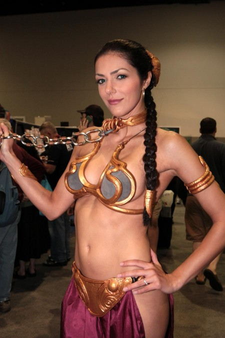 Adrianne Curry As Princess Leia Comic Con In San Diego