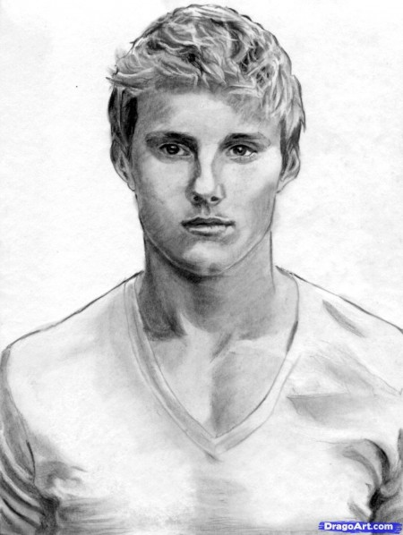 How To Draw Cato Hunger Games Alexander Ludwig Step