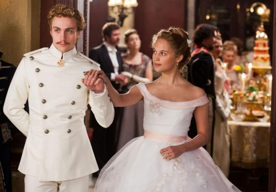 Still Of Aaron Taylor Johnson And Alicia Vikander In Anna Karenina Wallpaper