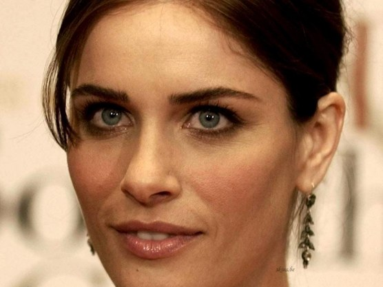 Amanda Peet Closeup Funny Wallpaper