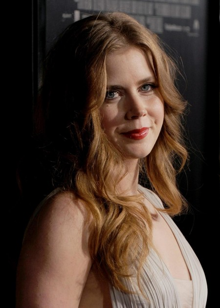 Amy Adams Gray Dress Premiere Fighter La Amyadams Premiere Of The Fighter La