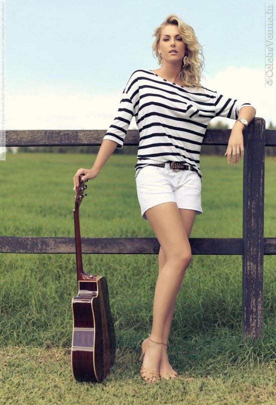 Ana Hickmann For Equus Jeans Style Spring Summer Ad Campaign Photoshoot
