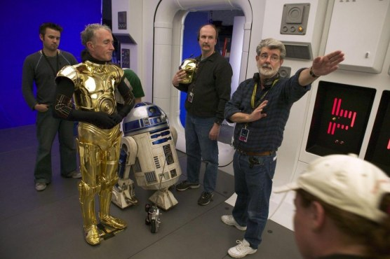 George Lucas And Anthony Daniels In Star Wars Episode Iii Revenge Of The Sith