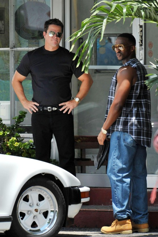 Mark Wahlberg And Anthony Mackie Continue To Film For New Bodybuilding Kidnapping Film Pain And Gain In Miami Shirtless