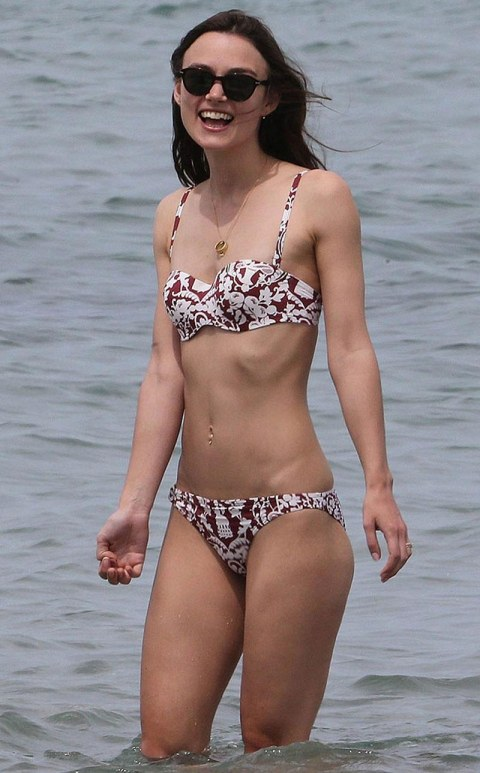 Keira Knightley In Bikini At Beach In Corsica Beach