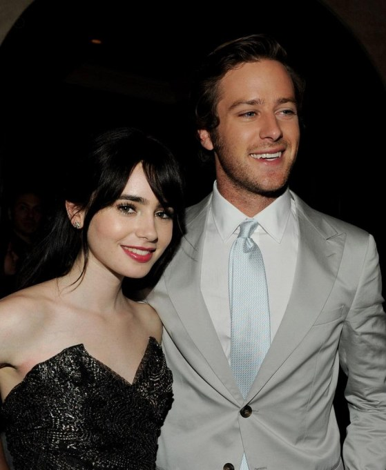 Armie Hammer Lily Collins Premiere Relativity Ars Ptiis And Lily Collins