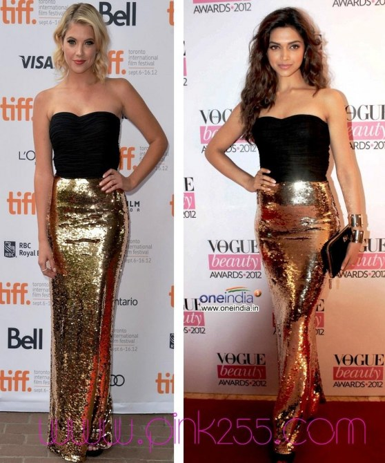 Deepika Padukone Ashley Benson Dolce And Gabbana Brown Hair