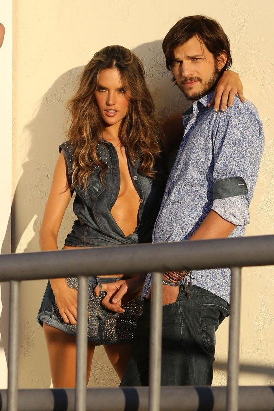 Ashton Kutcher Alessandra Ambrosio Photo Shoot Underwear
