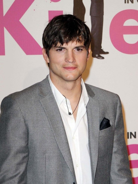 Ashton Kutcher Grey Suit Hot