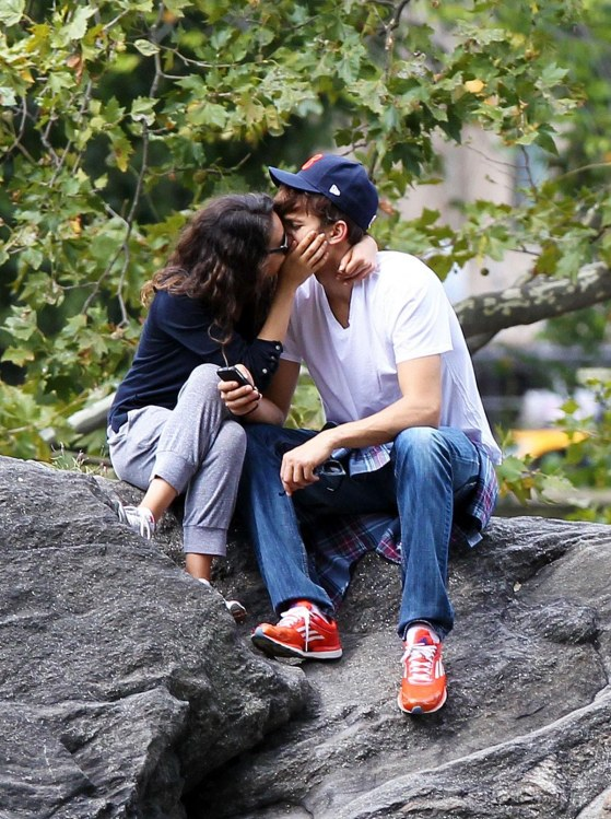 Mila Kunis And Ashton Kutcher Out Nad About In New York And Mila