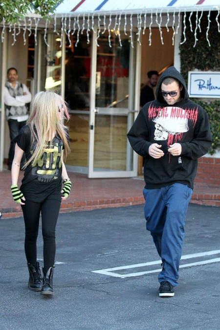 Full Avril Lavigne Brody Jenner Shopping Wenn Shopping