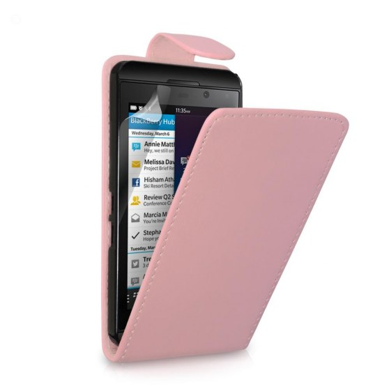 Baby Pink Blackberry Pu Leather Flip Case