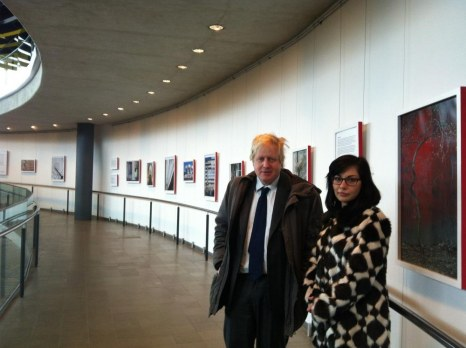 Boris Johnson Visits Maslenitsa Exhibition