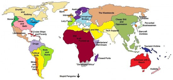 World Map By Stereotypes Full Stereotypes