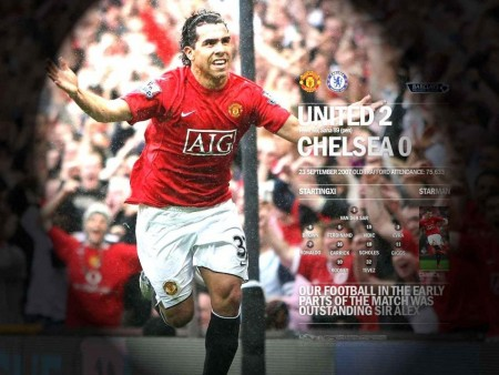 Carlos Tevez Manchester United Manchester United