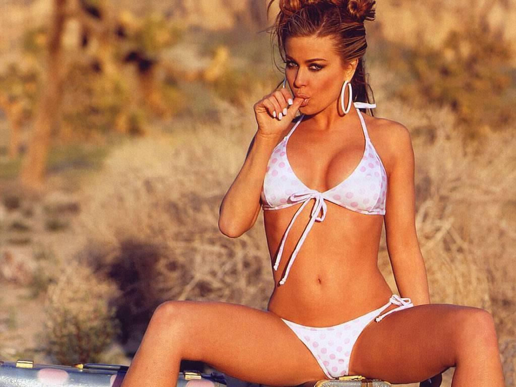 Carmen Electra White Bikini Wallpaper Customity Hot