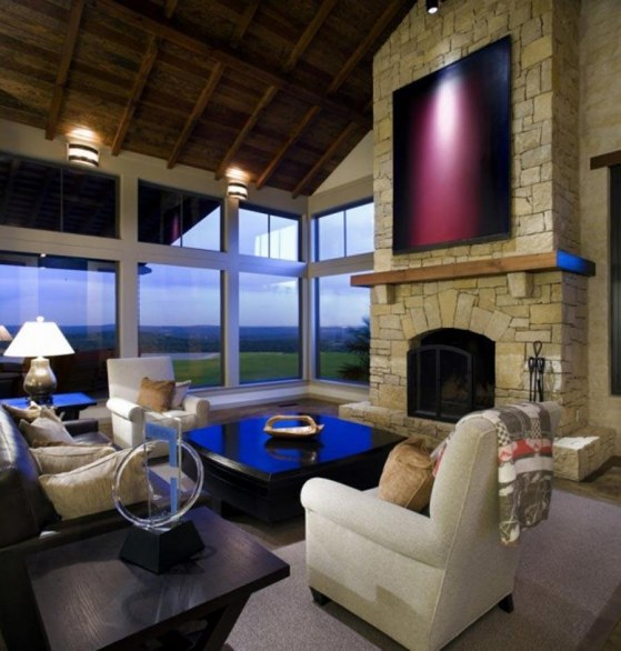 Celebrity Interior Decor Fireplaces Celebrity Interiors