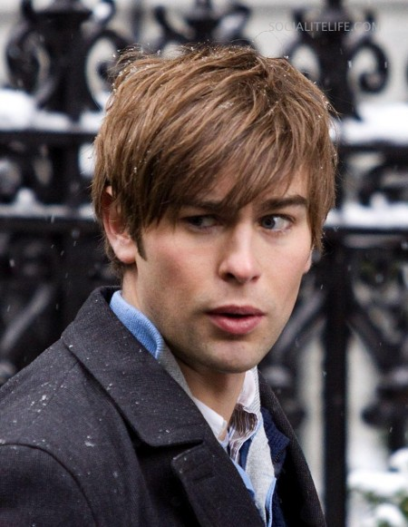 Chacecrawford Gossipgirl Set Photos Gossip Girl