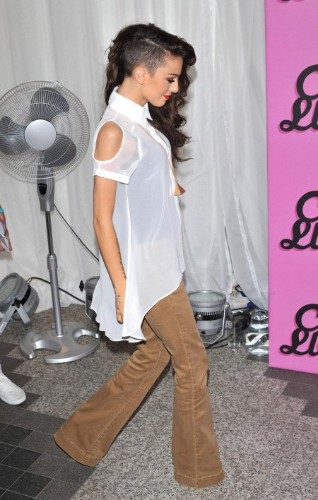 Cher Lloyd White Sheer Shirt