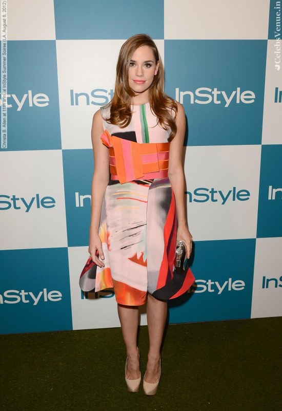 Christa Allen At Th Annual Instyle Summer Soiree La August Christa Allen Detention Of The Dead