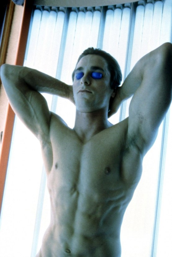 Male Gaze Christian Bale American Psycho Body