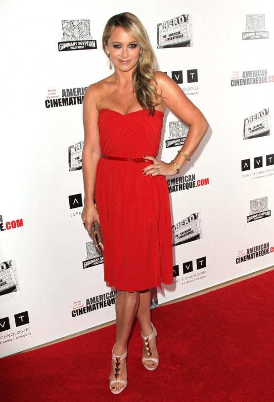 Christine Taylor At American Cinematheque Ben Stiller Tribute In Beverly Hills Beach