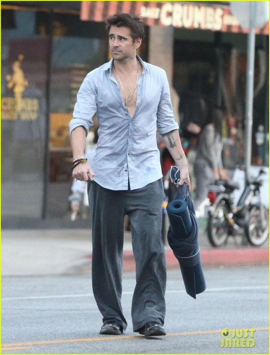 Colin Leaves The Gym In Los Angeles October Colin Farrell Shirt Off