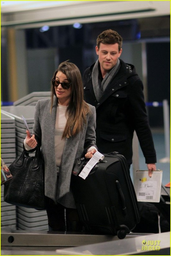 Lea In Vancouver Airport With Cory Monteith November Glee