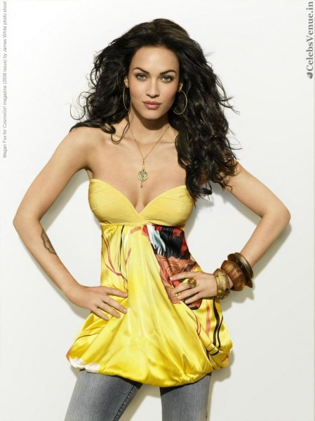 Megan Fox For Cosmogirl Magazine Issue By James White Photo Shoot