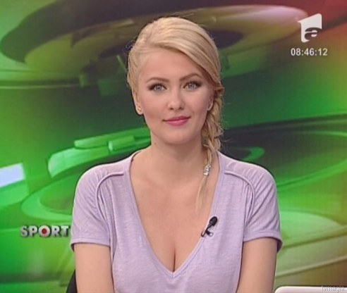 Cristina Maria Dochianu Pretty Hot Presenter Romanian News Women Cristina Maria Dochianu