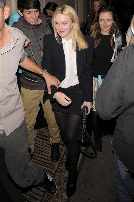 October Th Dakota Out And About In London Hq Dakota Fanning