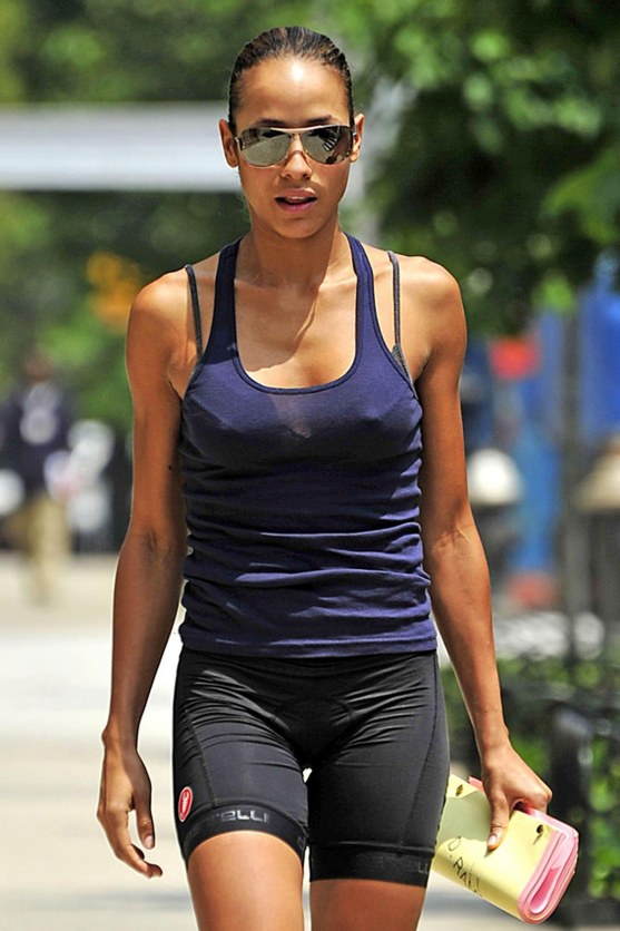 Dania Ramirez Purple Tank Body