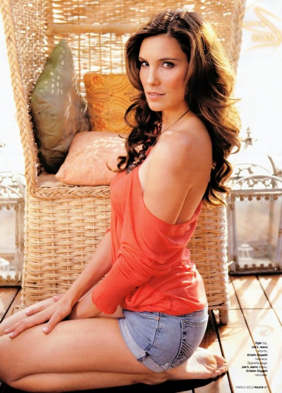 Daniela Ruah In Off Shoulder Blouse With Denim Shorts Photo Hot
