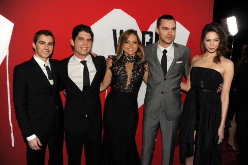 Nicholas Hoult Jonathan Levine Teresa Palmer Dave Franco And Analeigh Tipton At Event Of Iubitul Meu Zombi