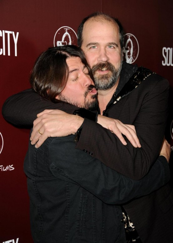 Dave Grohl And Krist Novoselic Arrive At The Premiere Of Large Picture