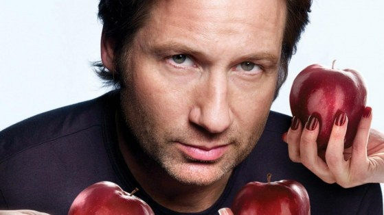 David Duchovny Actor Coat Arms Apples Face Young Young