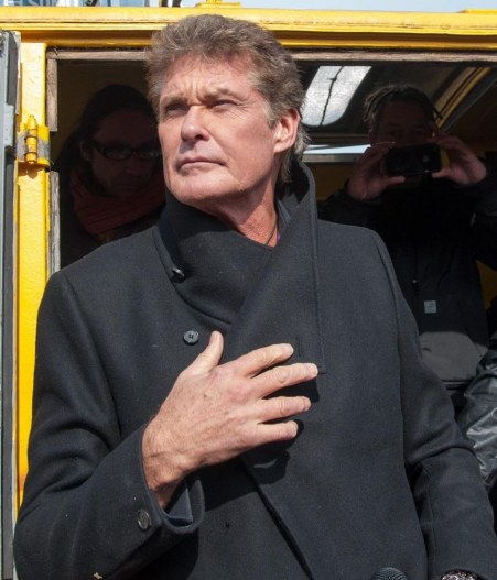 David Hasselhoff Demonstration Tv