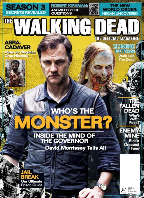 The Walking Dead Magazine Cover David Morrissey The Governor Walking Dead