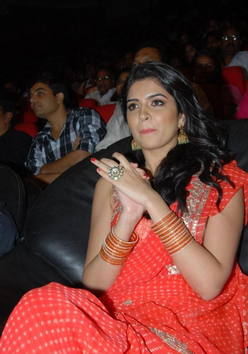 Deeksha Seth Hot Saree At Rebel Audio Release Rebel