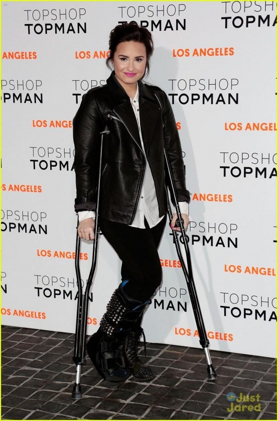 Demi Topshop Topman La Opening Party February Demi Lovato