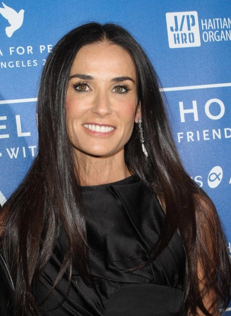 Demi Moore Smiling Black Hair Young