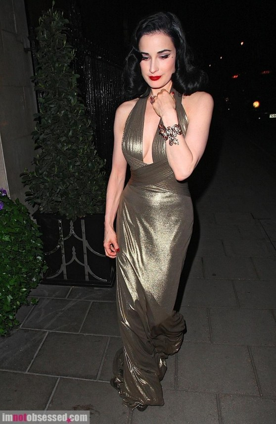 Dita Von Teese Looks Lovely In London